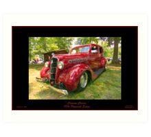 1936 Plymouth Sedan - Big Red Art Print
