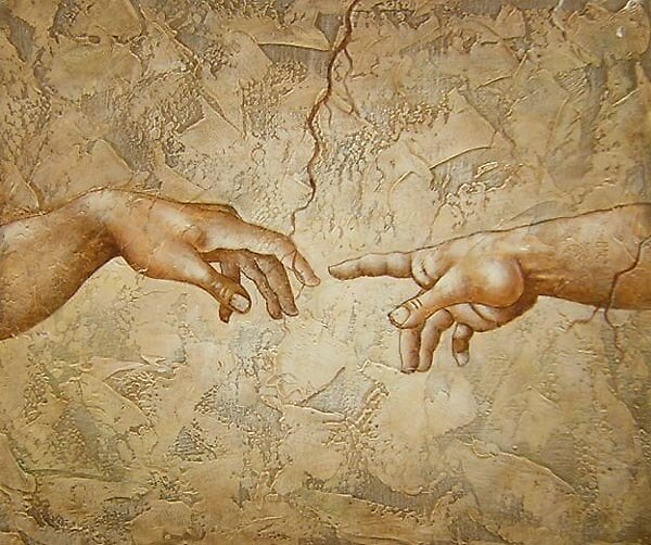 The Creation Of Adam  Oil Painting from Doupine [HS0118] by yelia0722
