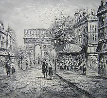 Arch on the Street  Oil Painting from Doupine [HS0182] by yelia0722