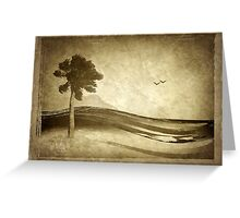 Old grunge seascape Greeting Card