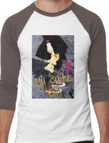 my cute girl Men's Baseball ¾ T-Shirt