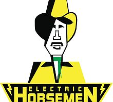 Electric Horsemen (Vintage 1) White Background by wesg1261
