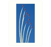 The Red Arrows on display Art Print