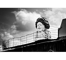 They Keep Her Behind the Wire Photographic Print