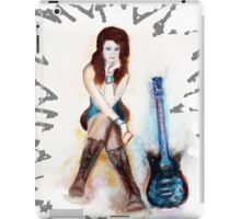 Girl with blue guitar iPad Case/Skin