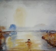 After J.M.W. Turner - Norham Castle, Sunrise by scallyart