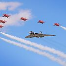 Final Vulcan Flight with The Red Arrows -  9 by Colin  Williams Photography