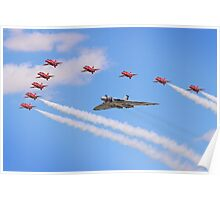 Final Vulcan Flight with The Red Arrows -  9 Poster