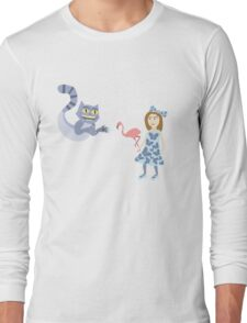 Alice and Cheshire Cat Long Sleeve T-Shirt