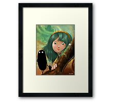 monsters in my mind Framed Print