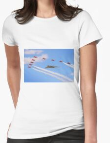 Final Vulcan Flight with The Red Arrows -  9 Womens Fitted T-Shirt