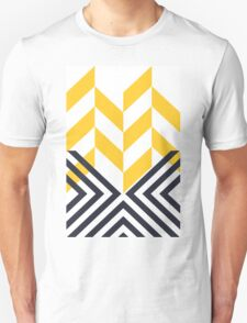 Modern Geometric Pattern Yellow Black Unisex T-Shirt