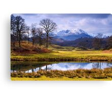 Wetherlam from The Brathay - The Lake District Canvas Print