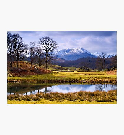 Wetherlam from The Brathay - The Lake District Photographic Print