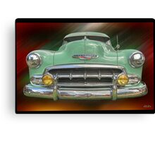 Child of the 50's - 1952 Chevrolet Deluxe Canvas Print
