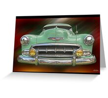 Child of the 50's - 1952 Chevrolet Deluxe Greeting Card