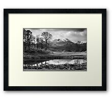 Wetherlam and the River Brathay. Framed Print