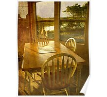 Beach Cottage Morning Poster