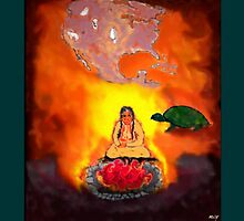 Turtle Whispers to Old Woman...Recurring Dream Vision by mcyoung