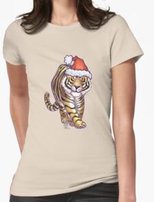Tiger Christmas Womens Fitted T-Shirt
