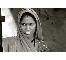 daughter of rajasthan Photographic Print