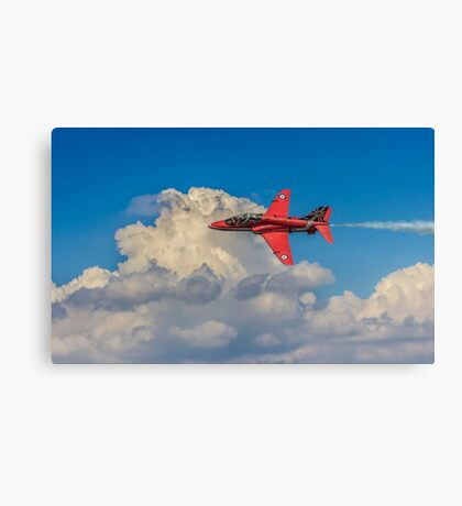 Red Arrow Through The Skies Canvas Print