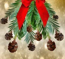 Pinecone mistletoe, Season greetings by Myillusions