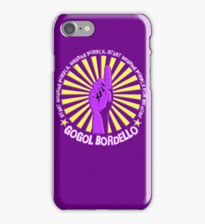 Gogol Bordello - Start Wearing Purple iPhone Case/Skin