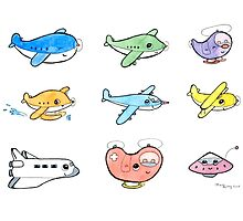Cute airplanes  by Macy Wong