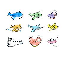 Cute airplanes  Photographic Print