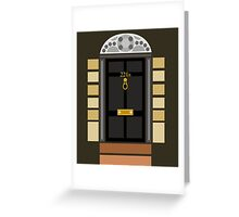 221b Baker Street (Door) Greeting Card