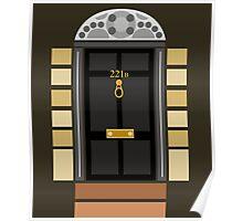221b Baker Street (Door) Poster