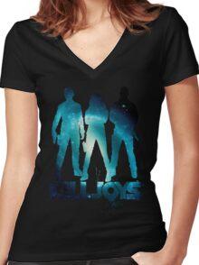 killjoys - blue Women's Fitted V-Neck T-Shirt