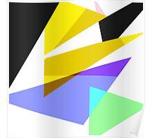 Contemporary Geometric Triangles 3 Poster