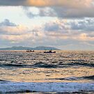 Fishing Boats and Green Island, Sing Chang Beach by Digby
