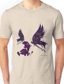 Butterflies and Carnations Unisex T-Shirt