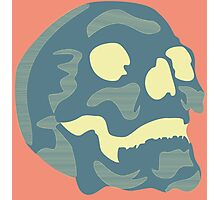 Blue Skull Photographic Print