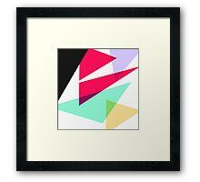 Contemporary Geometric Triangles 4 Framed Print