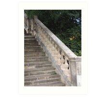 Stone stairs Art Print