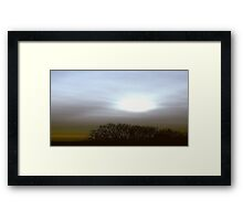 drive by sunset #5 Framed Print
