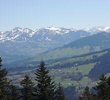 Alpine Mountain Range by Vandarque