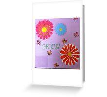 Orange Petal Greeting Card