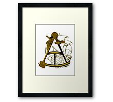Measuring The Territory At Sea Framed Print