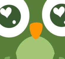 Green Owl Sticker