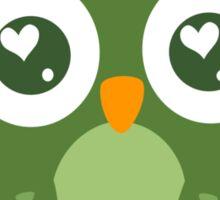 Green Owl Sticker