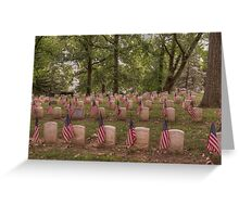 Tribute to Our Veterans Greeting Card