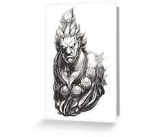 Akuma Great Demon Greeting Card