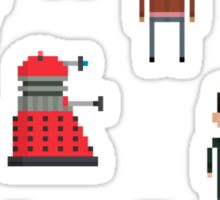 Pixel Doctor Who various characters - Set of 13 Sticker