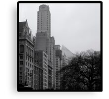 Dark Tree and Tower Canvas Print