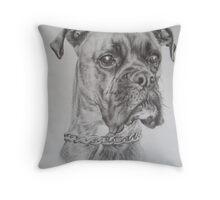 Brindle Boxer dog Throw Pillow